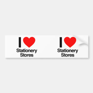 i love stationery stores bumper stickers