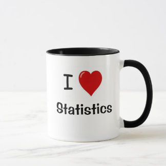 I Love Statistics! - Double-sided Quote Mug