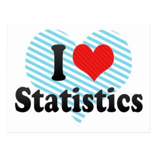 I Love Statistics Postcard
