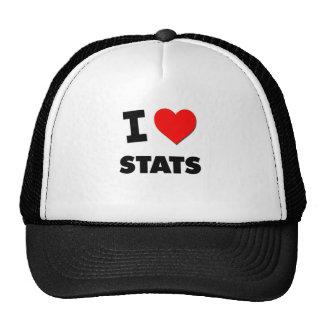 I love Stats Mesh Hats