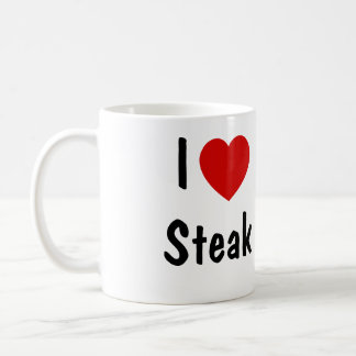 I Love Steak Coffee Mug