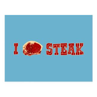 I Love Steak Postcard