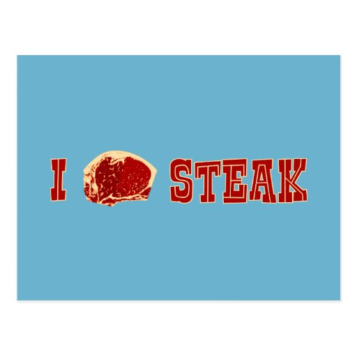 I Love Steak Postcards