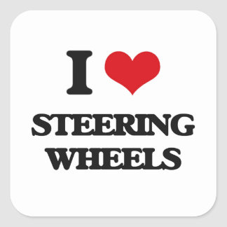 I love Steering Wheels Square Sticker
