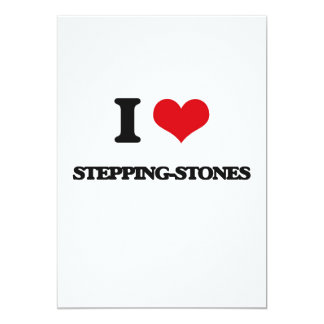 "I love Stepping-Stones 5"" X 7"" Invitation Card"