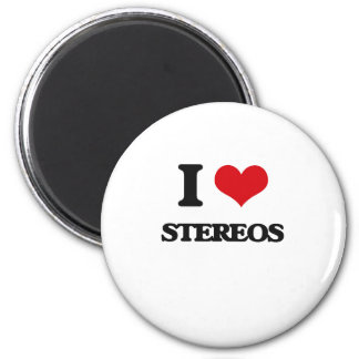 I love Stereos 2 Inch Round Magnet