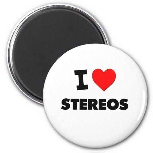 I love Stereos Fridge Magnet