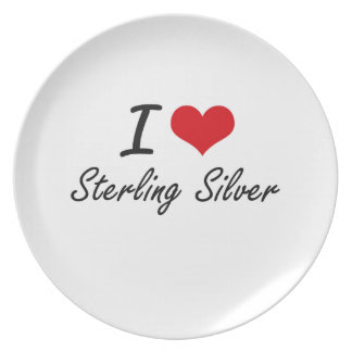 I love Sterling Silver Party Plates
