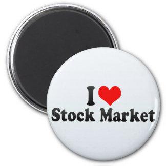 I Love Stock Market Fridge Magnet