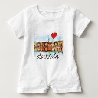 I love Stockholm Baby Bodysuit