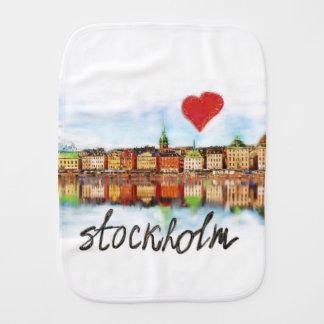 I love Stockholm Burp Cloth