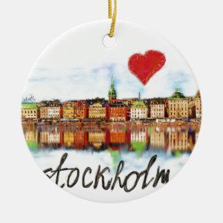 I love Stockholm Ceramic Ornament