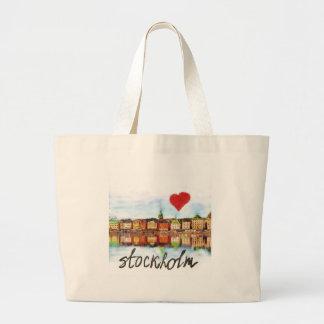 I love Stockholm Large Tote Bag
