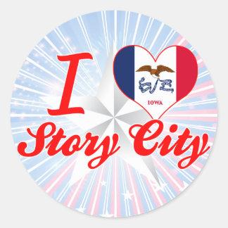 I Love Story City, Iowa Sticker