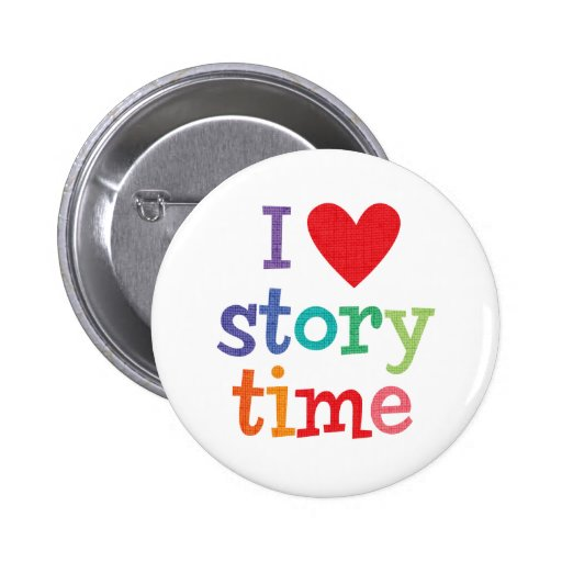I Love Storytime T-Shirts & Gifts Pins