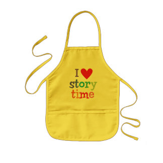 I Love Storytime T-Shirts & Gifts Kids Apron