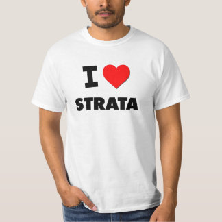 I love Strata Tee Shirt