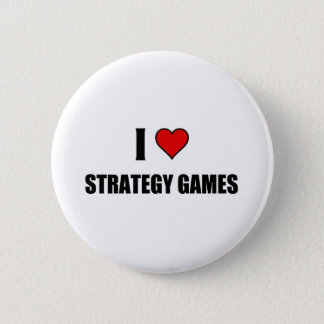 I love Strategy Games 6 Cm Round Badge