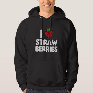 I Love Strawberries Hoodie