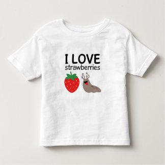 I Love Strawberries Illustration Toddler T-Shirt