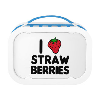 I Love Strawberries Lunch Box