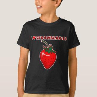 I Love Strawberries T Shirt
