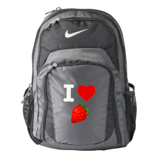 I Love Strawberry Fruits Nature Candy Vegan Berry Backpack