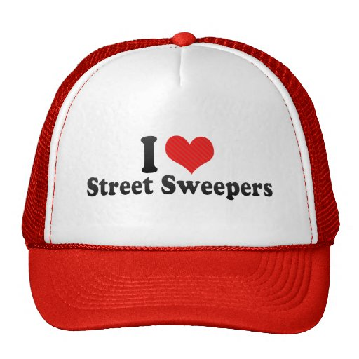 I Love Street Sweepers Trucker Hats