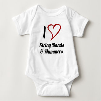 I Love String Bands & Mummers Baby Bodysuit