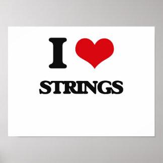 I Love STRINGS Poster
