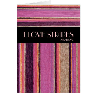I love Stripes Greeting Card