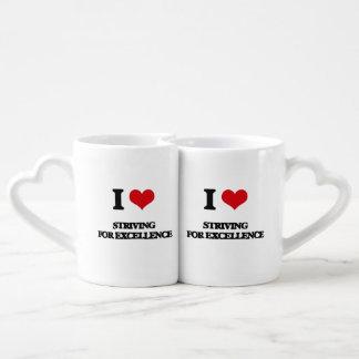 I love Striving For Excellence Couples Mug