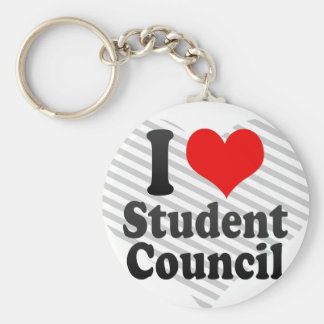 I love Student Council Basic Round Button Key Ring