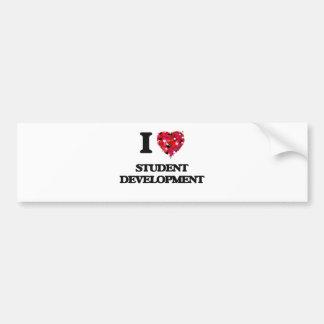I Love Student Development Bumper Sticker