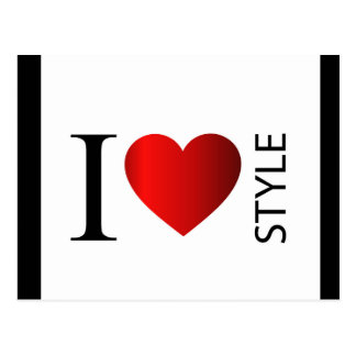 I love style postcard
