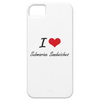 I love Submarine Sandwiches Barely There iPhone 5 Case