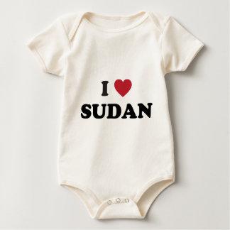 I Love Sudan Baby Bodysuit