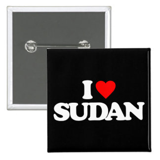 I LOVE SUDAN PINBACK BUTTON