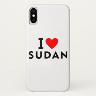 I love Sudan country like heart travel tourism iPhone X Case