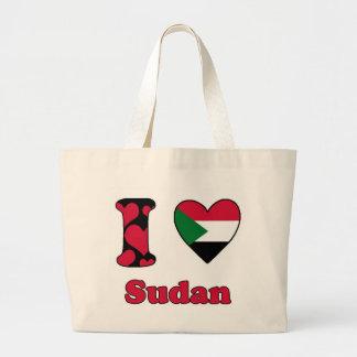 I love Sudan Jumbo Tote Bag