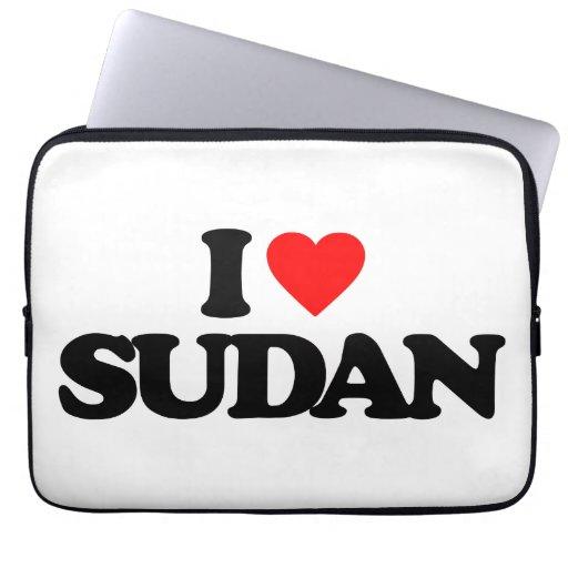 I LOVE SUDAN COMPUTER SLEEVES