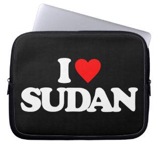 I LOVE SUDAN LAPTOP COMPUTER SLEEVES