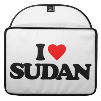 I LOVE SUDAN MacBook PRO SLEEVE