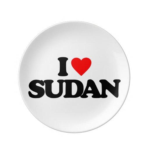 I LOVE SUDAN PORCELAIN PLATE