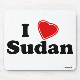 I Love Sudan Mouse Pad