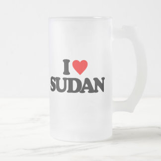 I LOVE SUDAN BEER MUGS