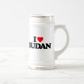 I LOVE SUDAN COFFEE MUGS