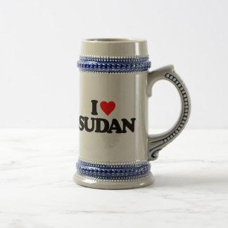 I LOVE SUDAN COFFEE MUG