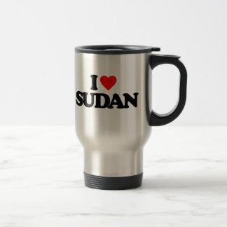 I LOVE SUDAN STAINLESS STEEL TRAVEL MUG