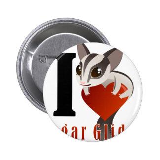 I Love Sugar Glider 6 Cm Round Badge